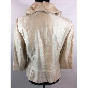 Adrianna Papell Jackets & Coats - Adrianna Papell Evening Gold Shimmer Jacket Sz 12